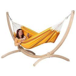 Zestaw hamakowy: hamak currambera ze stojakiem canoa, pomarańczowy cuh14cns12-1 marki La siesta