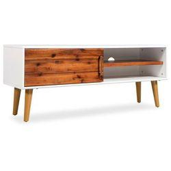 Szafka pod TV z drewna akacjowego, 120 x 35 x 45 cm