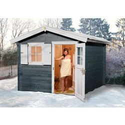 Megiw Drewniany domek ogrodowy z sauną stokrotka 3 x 3 m