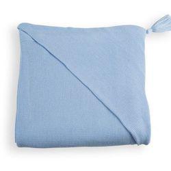 otulacz z kapturkiem 100% bambusowy tkany z jonami srebra niebieski marki Woodlook