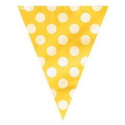 Baner flagi żółte w kropki - 3,65 m. marki Unique