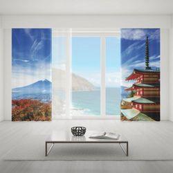 Zasłona okienna na wymiar komplet - ASIAN MOUNTAIN