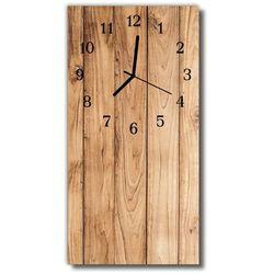 Zegar Szklany Pionowy Drewno naturalny beżowy