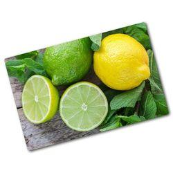Deska kuchenna duża szklana Limonka i cytryna