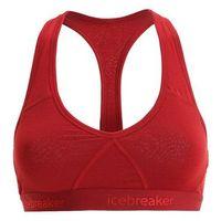 Icebreaker Sprite Bielizna z wełny merynosów Kobiety czerwony L Staniki sportowe (9420051476288)