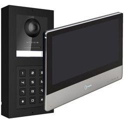 Vidos Zestaw wideodomofonu ip natynkowy stacja bramowa z szyfratorem monitor 7''