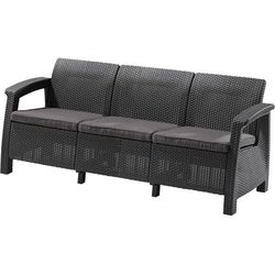 Allibert sofa CORFU LOVE SEAT MAX antracit (3253929120008)