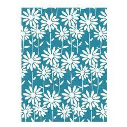 Awd interior zasłonka prysznicowa niebieska białe kwiatki awd02101210