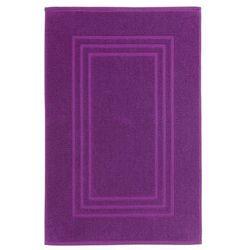 Dywanik łazienkowy Palmi bawełniany 50 x 80 cm fioletowy (3663602965312)