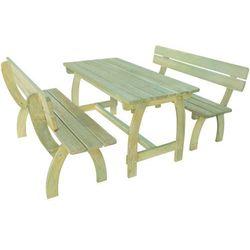 Zestaw mebli ogrodowych, 3 części, impregnowane drewno sosnowe marki Vidaxl