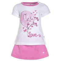 Champion SET Spódnica sportowa white/fuchsia pink, kolor biały