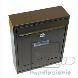 Skrzynka pocztowa jak mały brązowy 310x260x90mm marki G21