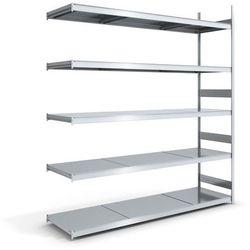 Regał wtykowy o dużej pojemności z półkami stalowymi,wys. 3000 mm, szer. półki 2500 mm