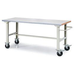 Mobilny stół roboczy SOLID 400, 2000x800 mm, stal