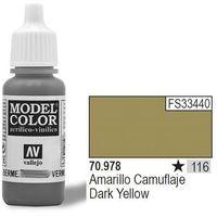 Vallejo Farba Nr116 Dark Yellow 17ml - produkt z kategorii- Farby modelarskie