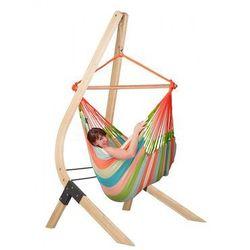 Zestaw hamakowy: fotel hamakowy Domingo ze stojakiem Vela, Kolorowy DOL21VEA16