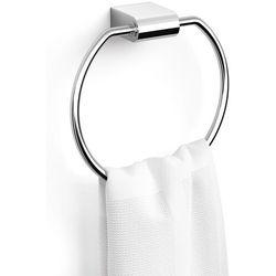Wieszak ścienny, okrągły na ręcznik kąpielowy Atore Zack polerowany (40461)