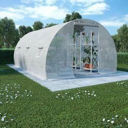 VidaXL Szklarnia ogrodowa, stalowa konstrukcja, 13,5m², 450x300x200cm
