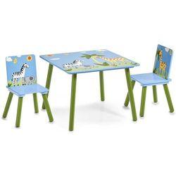 Zeller Stolik dziecięcy safari + 2 krzesełka,