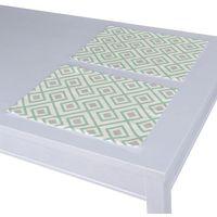 Dekoria Podkładka 2 sztuki, szaro- miętowe rąby na białym tle, 30x40 cm, Geometric