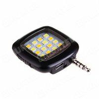 Lampa flash LED selfie błyskowa do złącza minijack z kontrolą jasności czarna - sprawdź w wybranym sklep