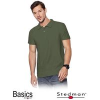 Męska koszulka khaki polo STEDMAN ST3000_KHA