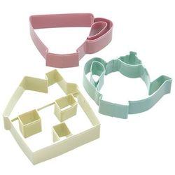 Foremki do wykrawania ciastek 3 sztuki Tea - Kitchen Craft (5028250382627)