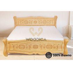 Woodica 33. łóżko góralskie ii ozdobne 200x200