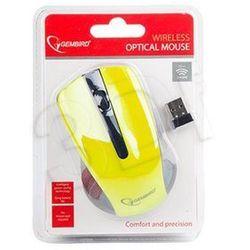 Gembird mysz bezprzewodowa optyczna usb (musw-101-y) yellow