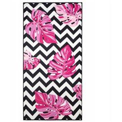 Ręcznik plażowy tropical 80x160 wzór kwiaty+zygzak marki Eurofirany