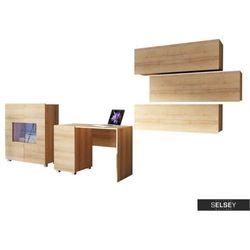 Selsey zestaw mebli kirdon z komodą do domowego biura (5900000060843)