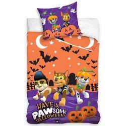Carbotex Dziecięca pościel bawełniana Psi patrol Halloween, 140 x 200 cm, 70 x 90 cm