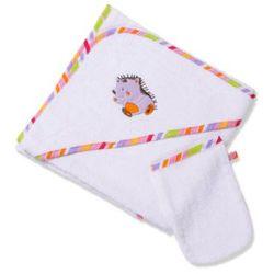 Easy Baby Ręcznik kąpielowy z kapturem 100x100 z myjką Tahiti (360-75) z kategorii Ręczniki