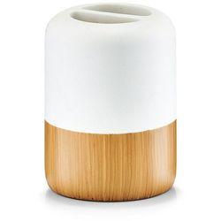 Zeller Pojemnik na szczoteczki do zębów wood base, 2 komory,