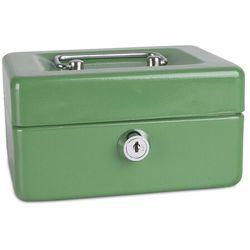 Kasetka na pieniądze DONAU, mała, 152x80x115mm, zielona
