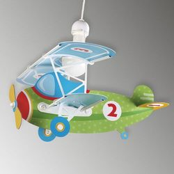 Dalber 54022 - lampa wisząca dziecięca baby planes 1xe27/60w/230v (8420406540221)