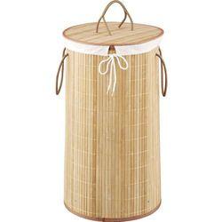 Bambusowy kosz na pranie, jasny brąz, 55 litrów,kolor jasnobrązowy, ZELLER (4003368134109)