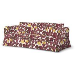 Dekoria Pokrowiec na sofę Karlanda 3-osobową nierozkładaną, długi, żółto-brązowe kwiaty, Sofa Karlanda 3-os, Wyprzedaż do -30%