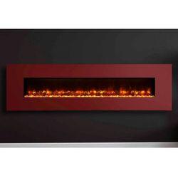 Kominek Radiance 150W Steel z ramką w kolorze czarwonym, KOMINEK RADIANCE 150W STEEL Z RAMKą W KOLORZE CZERWONYM