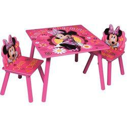 Global 85897 drewniany stolik i dwa krzesełka myszka minnie disney