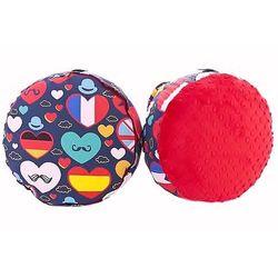 Cuddly Zoo, I love UE, Red, mała pufa z kategorii Pozostałe meble do pokoju dziecięcego