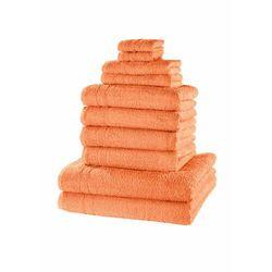 Komplet ręczników (10 części) morelowy marki Bonprix