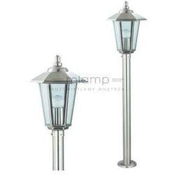 Ideus Zewnętrzna lampa stojąca hl245 01155  słupek oprawa ogrodowa ip44 latarnia outdoor satyna, kategoria: lampy ogrodowe
