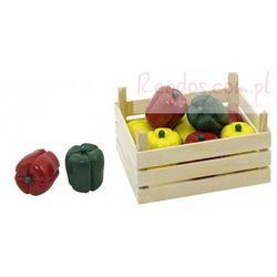 Warzywa w skrzynce, papryki, 10 elementów. (skrzynka narzędziowa zabawka) od REGDOS