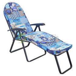 Leżak ogrodowy MODENA OVAL LUX niebieski - produkt z kategorii- Leżaki ogrodowe