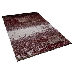 Dywan czerwono-beżowy 140 x 200 cm krótkowłosy ALIMOS