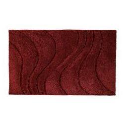 Ridder La ola dywanik łazienkowy 60x90cm poliester, czerwony 729316 (4006956729398)