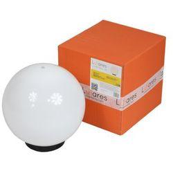 Lunares Lampa ogrodowa biała kula dekoracyjna - luna ball 20 cm (5903282170049)