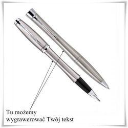 Zestaw długopis i pióro Parker Urban stalowy z opcją grawerowania dedykacji