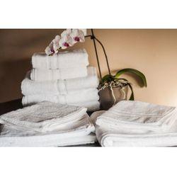 Ręcznik Hotelowy LUX 600 gr/m2 50x100 cm Biały 100% Bawełny Egipskiej